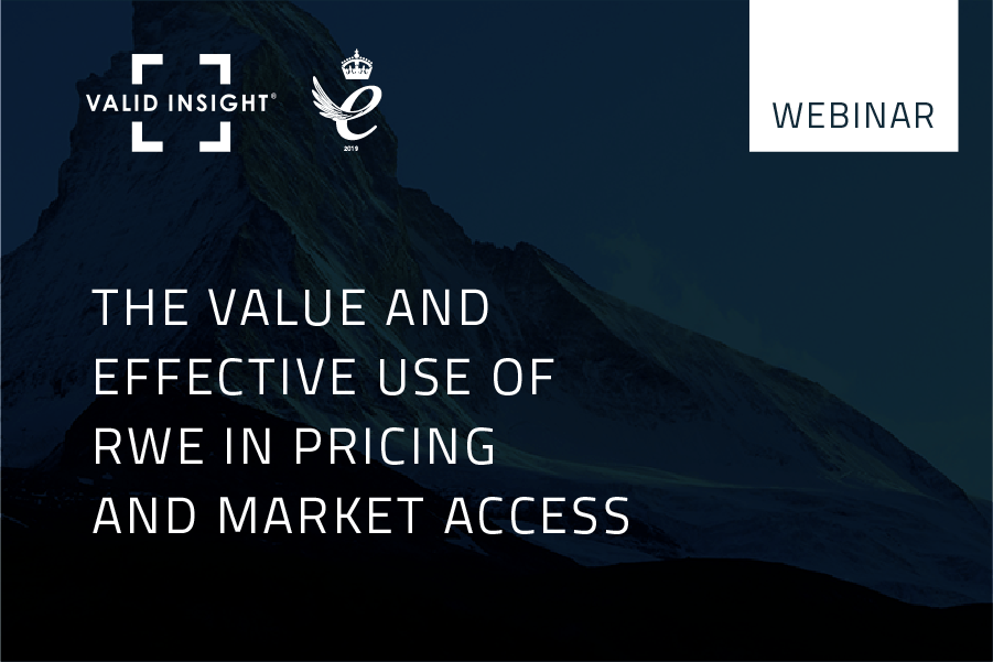 The Value and effective use of RWE in pricing and market access